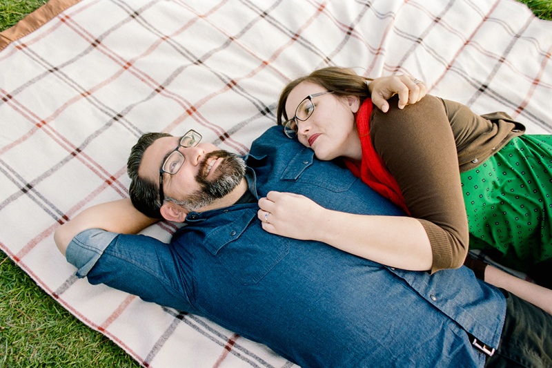 Los Angeles outdoor picnic engagement session