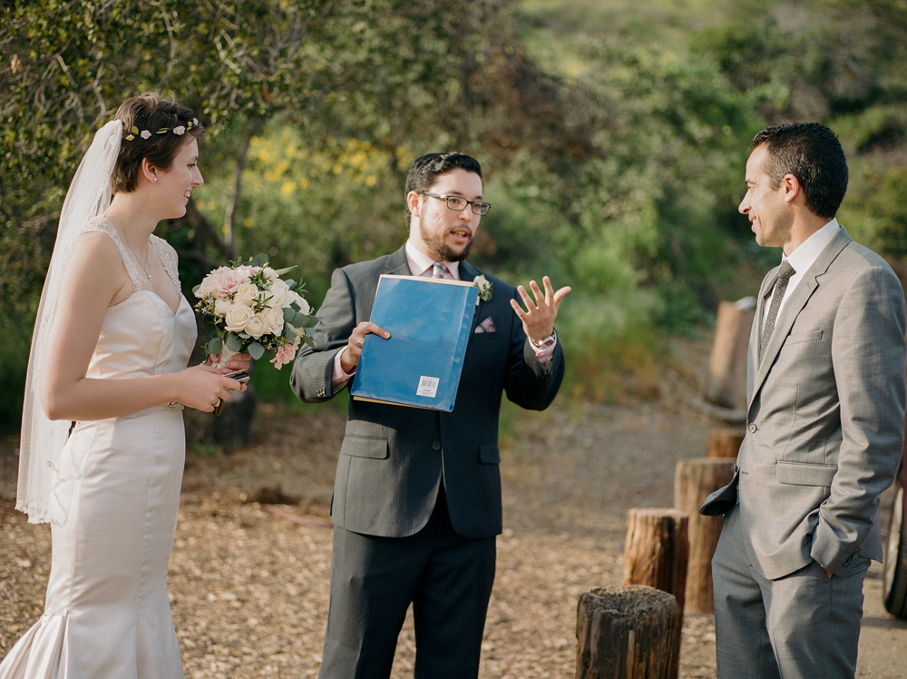 Intimate wedding at Griffith Park by Los Angeles film photographer Jessica Schilling