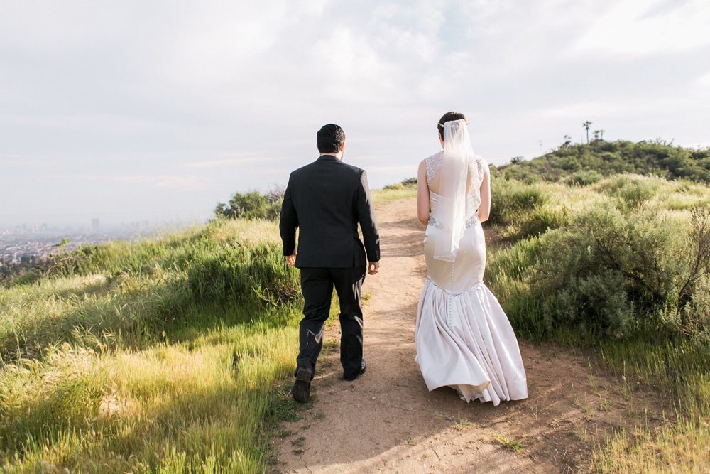 Griffith Park elopement photographer. Beautiful outdoor setting for intimate LA wedding.