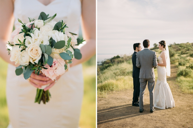 Los Angeles film photographer Jessica Schilling - intimate wedding ceremony at outdoor destination