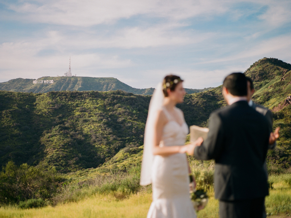 Unique outdoor elopement setting in Hollywood Hills Griffith Park Los Angeles