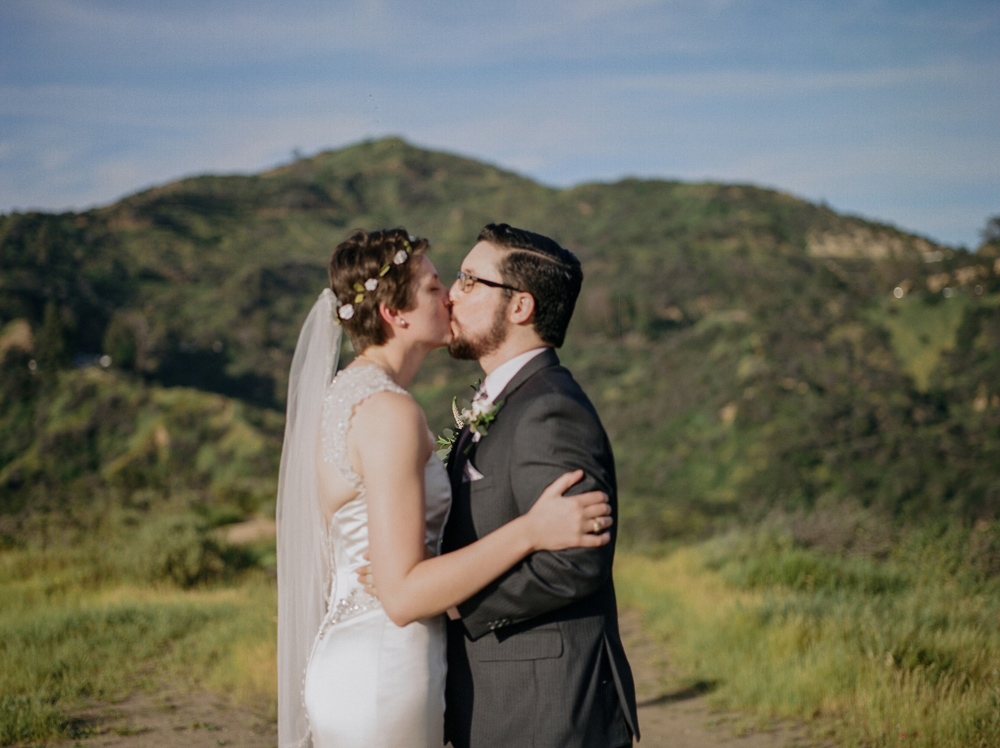 Griffith Park elopement by Los Angeles outdoor wedding film photographer Jessica Schilling