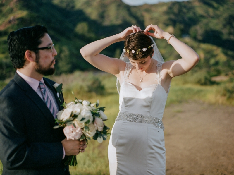 Griffith Park hiking and adventure elopement photography