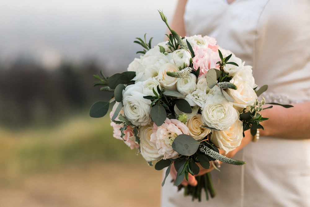 Los Angeles intimate wedding photographer Jessica Schilling. Bouquet by My Secret Garden