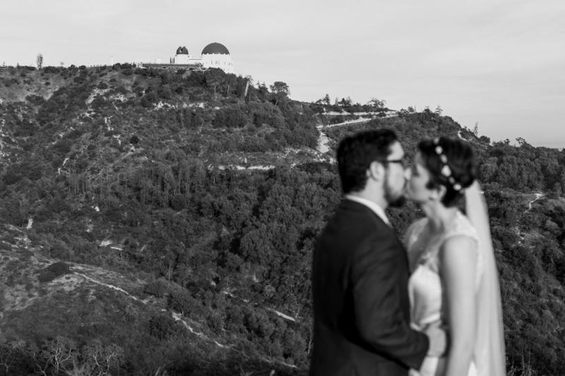 Griffith Observatory elopement in Los Angeles - La La Land