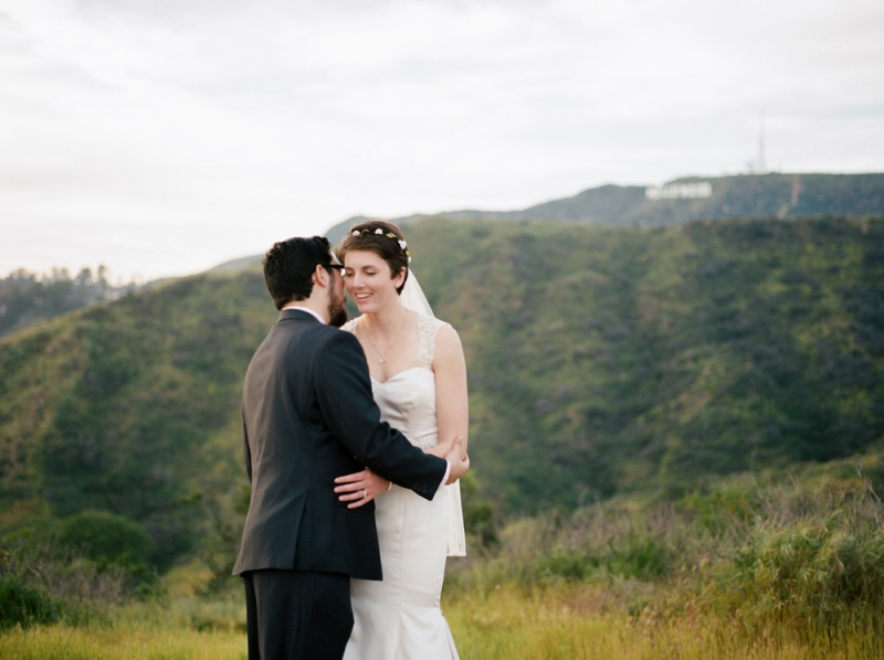 Romantic California destination elopement - Griffith Park wedding surrounded by nature