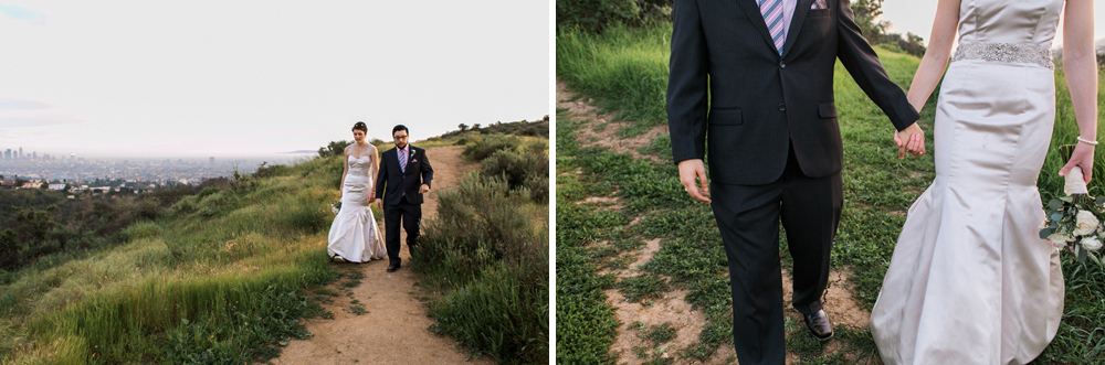 Hiking trails in Griffith Park for outdoor elopement in Los Angeles