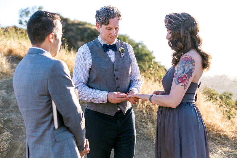 Romantic sunset elopement in Griffith Park