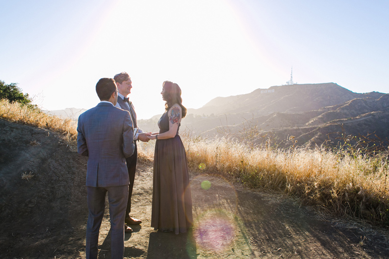 Los Angeles golden hour elopement