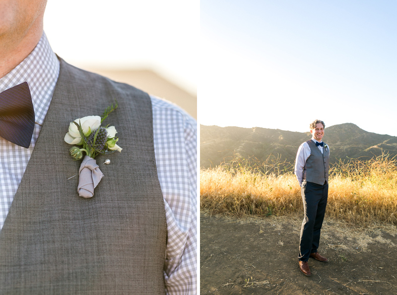 Groom style for California elopement