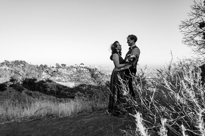 Griffith Park elopement photography