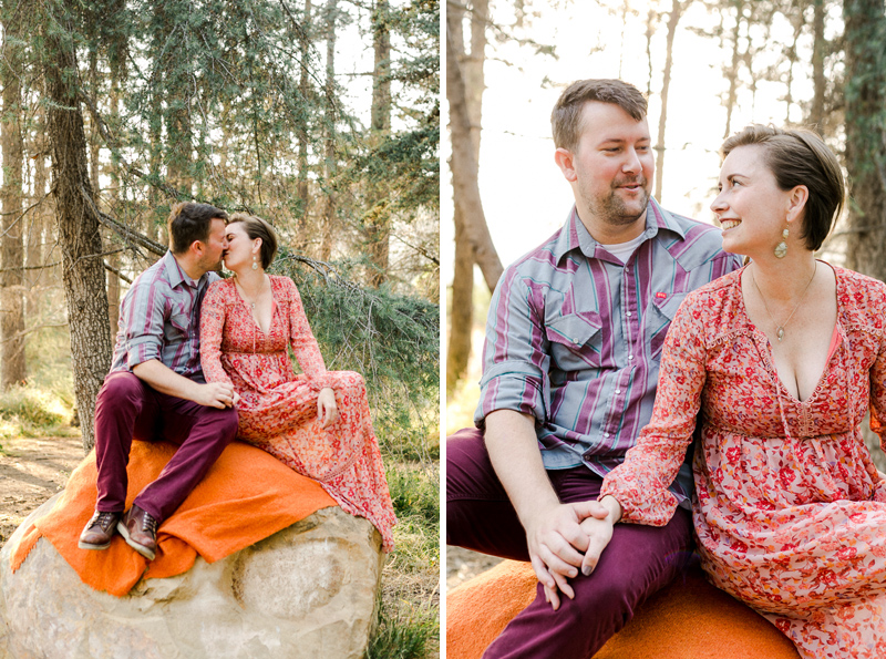 Engagement session in the forest at Griffith Park
