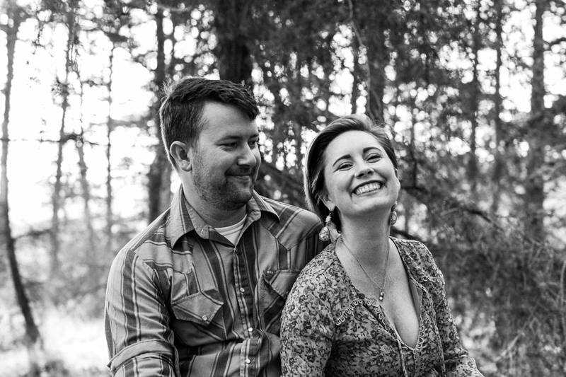 Wooded whimsical engagement photos