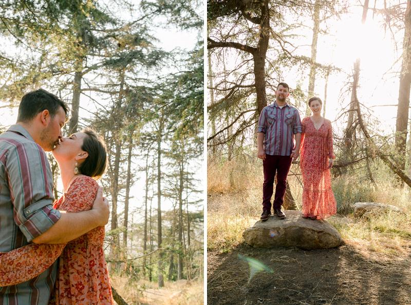 Griffith Park Cedar Grove engagement photos