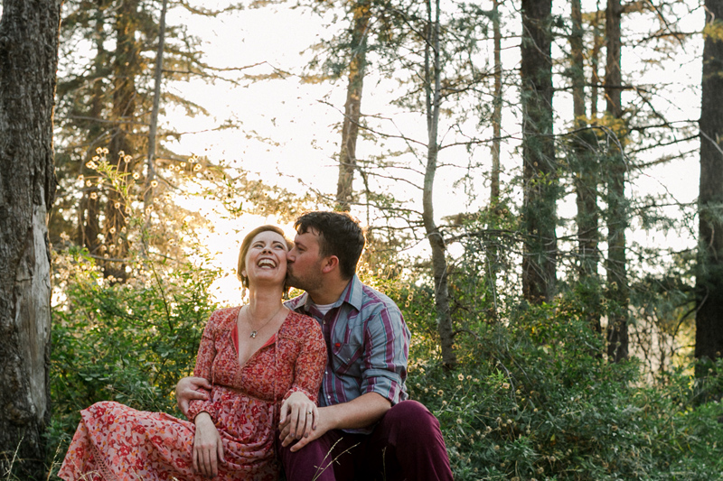 Romantic natural engagement photos in the woods of Southern California