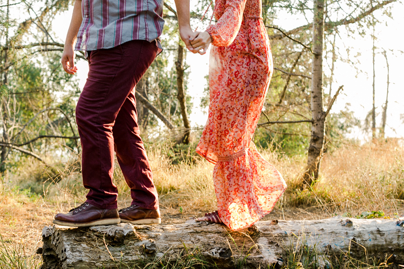 California hiking forest engagement photos