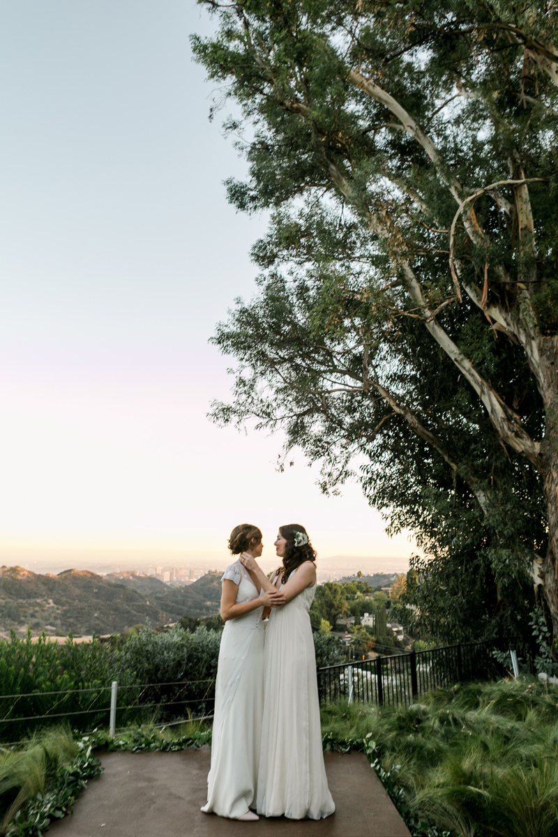 Hollywood Hills outdoor elopement photographer