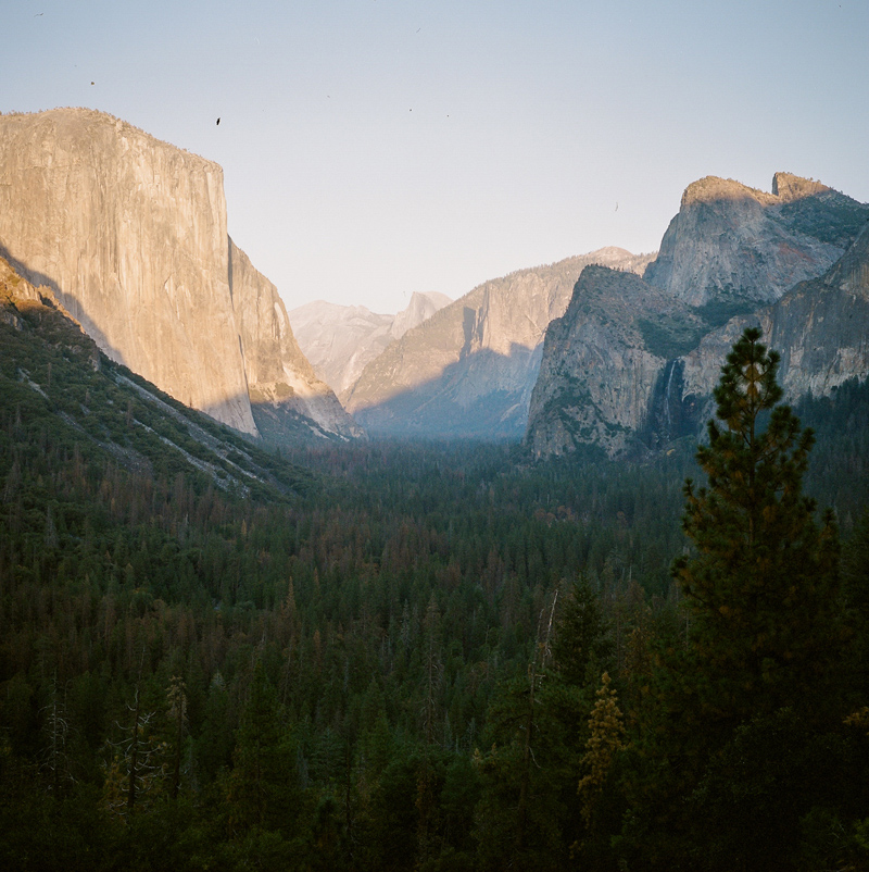 Yosemite national park photographer - Tunnel View at sunset on medium format film