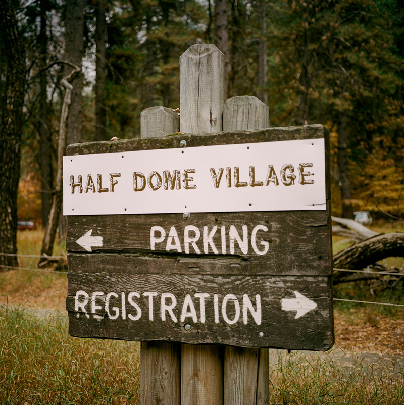 Yosemite national park travel photographer - Half Dome Village cabins on film