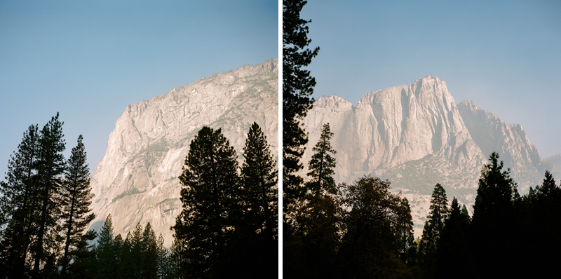 Early morning views of mountains in Yosemite National Park on Mamiya 6 Kodak Portra 400 medium format film.