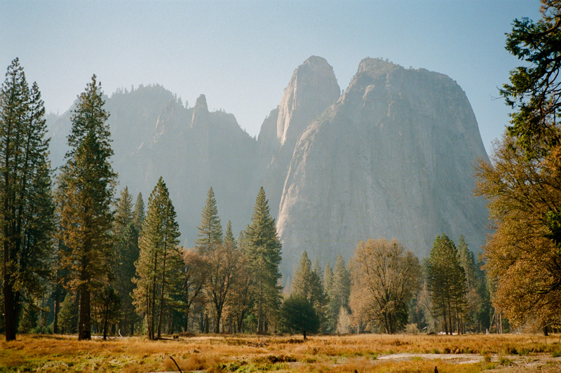 Cathedral Rocks Yosemite National Park on film travel photographer Jessica Schilling