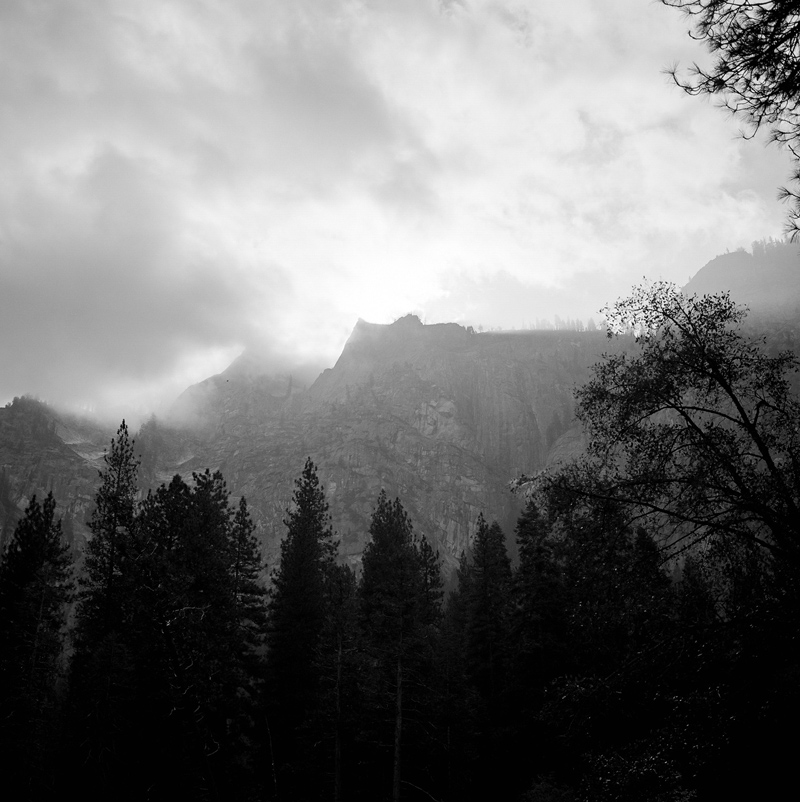 Black and white film of Yosemite national park with Mamiya 6.