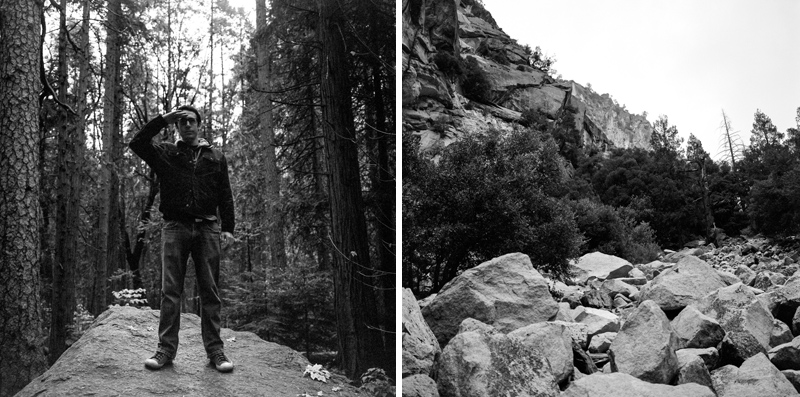 Yosemite park on black and white film. Mamiya 6