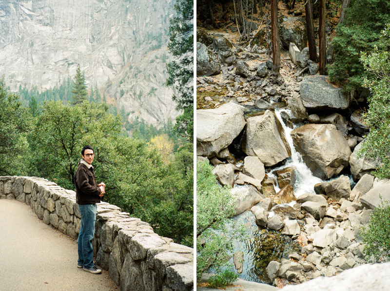John Muir trail and Vernal Falls hike at Yosemite National Park. 35mm film