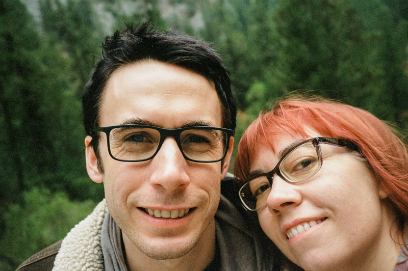 Yosemite glamping vacation. Outdoor travel photography on 35mm film