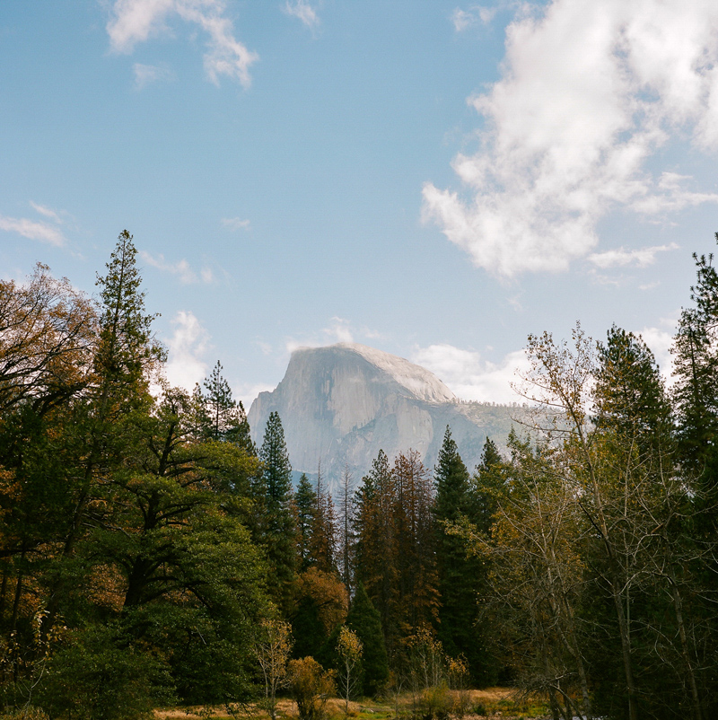 View of Half Dome on film with Mamiya 6. Yosemite elopement photographer and destination travel photographer