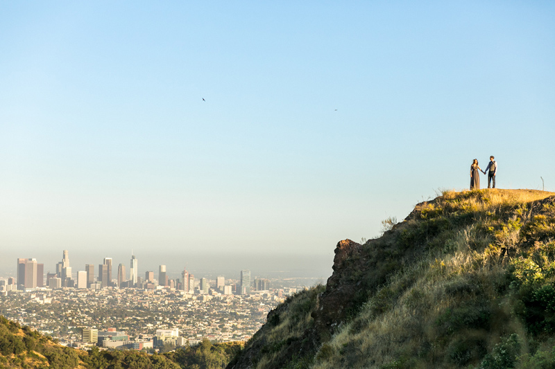 Los Angeles elopement photographer Jessica Schilling. Outdoor ceremony at Griffith Park.