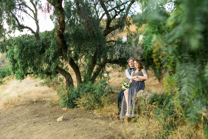 Woodsy outdoor elopement photos for nature-loving couples getting married at California destination weddings.