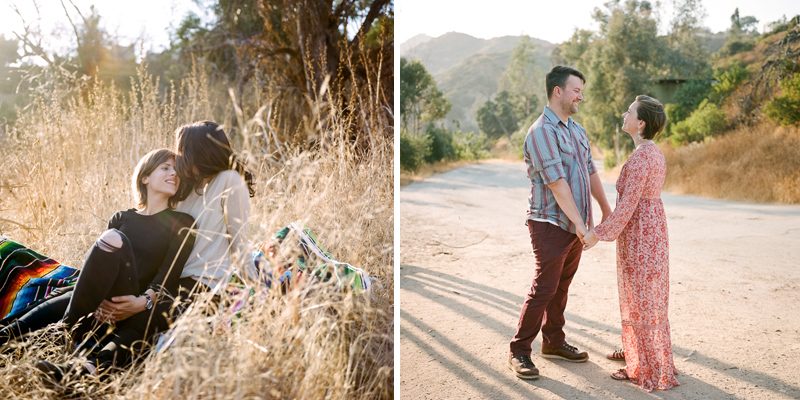 Los Angeles outdoor sunset engagement photos by film photographer Jessica Schilling