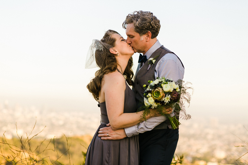 Outdoor elopement photos for adventurous couples by Los Angeles photographer Jessica Schilling