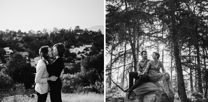 Romantic forest and outdoor engagement photos for adventurous couples in California.