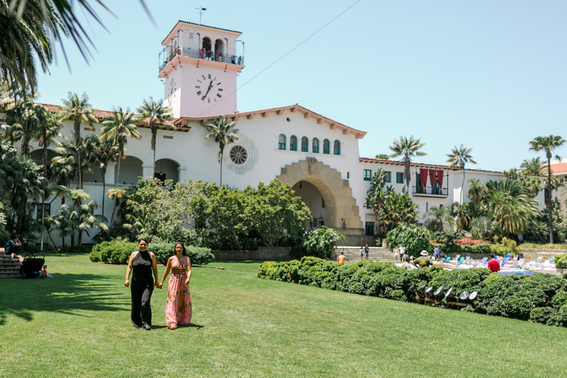 Santa Barbara courthouse elopement with two brides. Love is love.