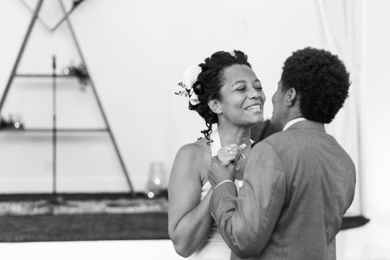 California intimate wedding photographer. Sweet candid connections in black and white.