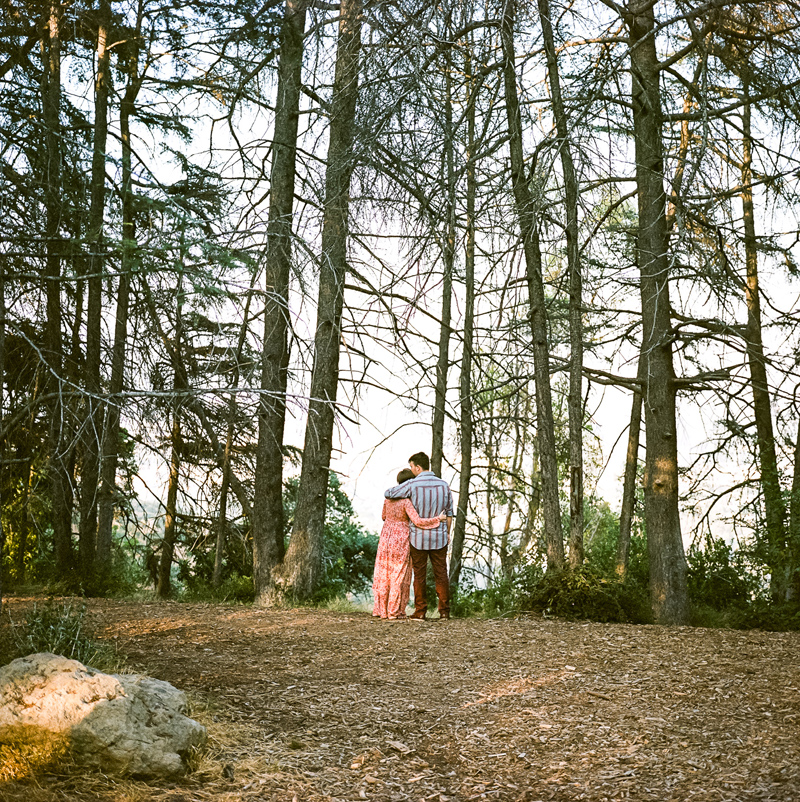 California forest engagement photos for adventurous couples by film photographer Jessica Schilling