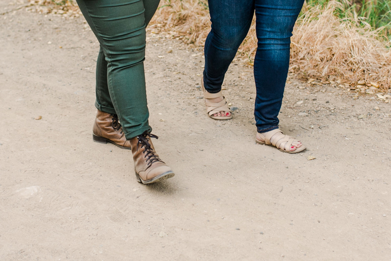 Hiking engagement photos - nature trails in Pacific Palisades
